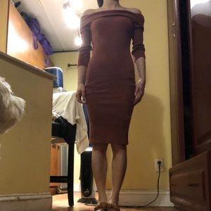 Forever 21 cotton off-shoulder dress